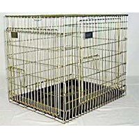 Essential Gold Heavy Duty Zinc Plated Two Door Collapsible Dog Cage