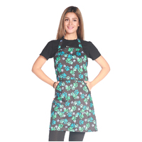 Ladybird Waterproof Dog Bathers Apron with Blue & Green Paw Prints
