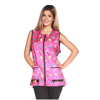Ladybird Waterproof Vest Pink Cartoon Print For Dog Groomers