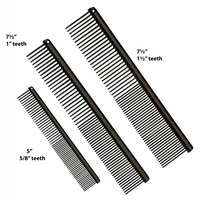 Etch Back Anti Static Face Grooming Comb 5 inch