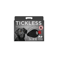 BLACK Tickless Ultrasonic Tick and Flea Repeller up to 12 months protection