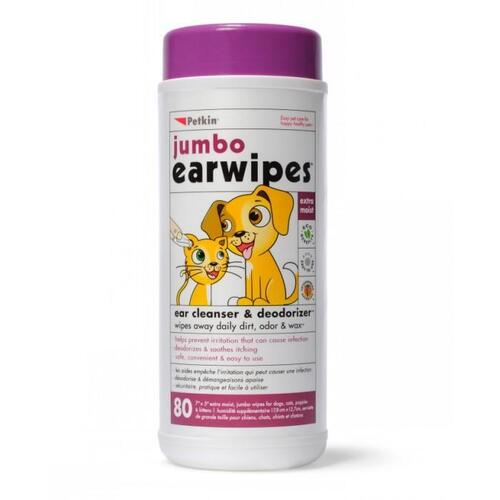 Petkin Ear Wipes Jumbo Pack 80